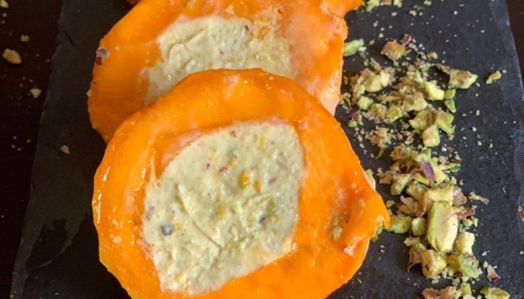 Mango Mania – Pistachio kulfi centred mangoes